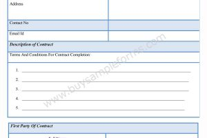 Contractor Completion Form