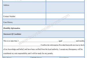 Disability Verification Form