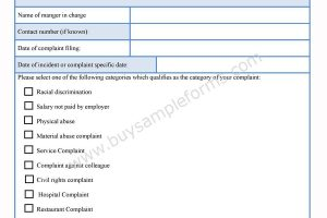 Formal Complaint Form
