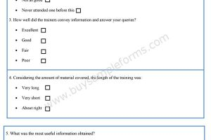 HR Training Evaluation Form