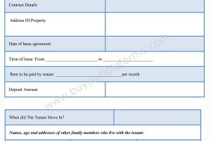 Landlord Statement Form