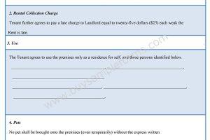 Landlord Tenant Form