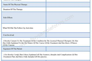 Physical Therapy Consent Forms