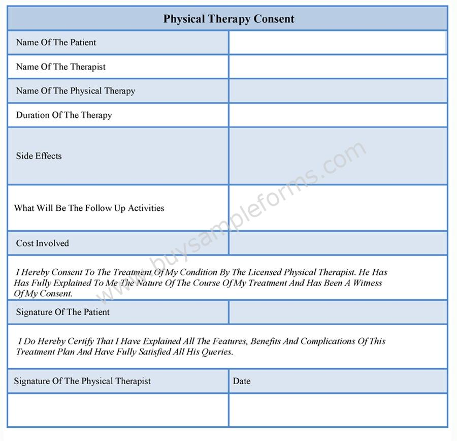 Physical Therapy Consent Forms  Buy Sample Forms Online