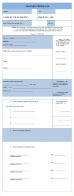 Bankruptcy Reclamation Form