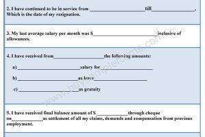 Bankruptcy Release Form