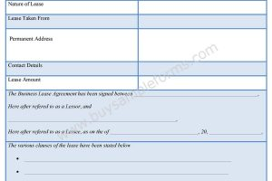 Business Lease Agreement Forms