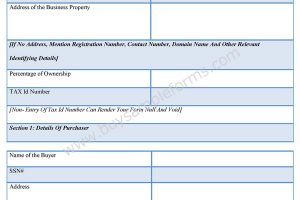 Business Sale Contract Form