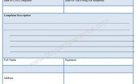Civil Complaint Response Form