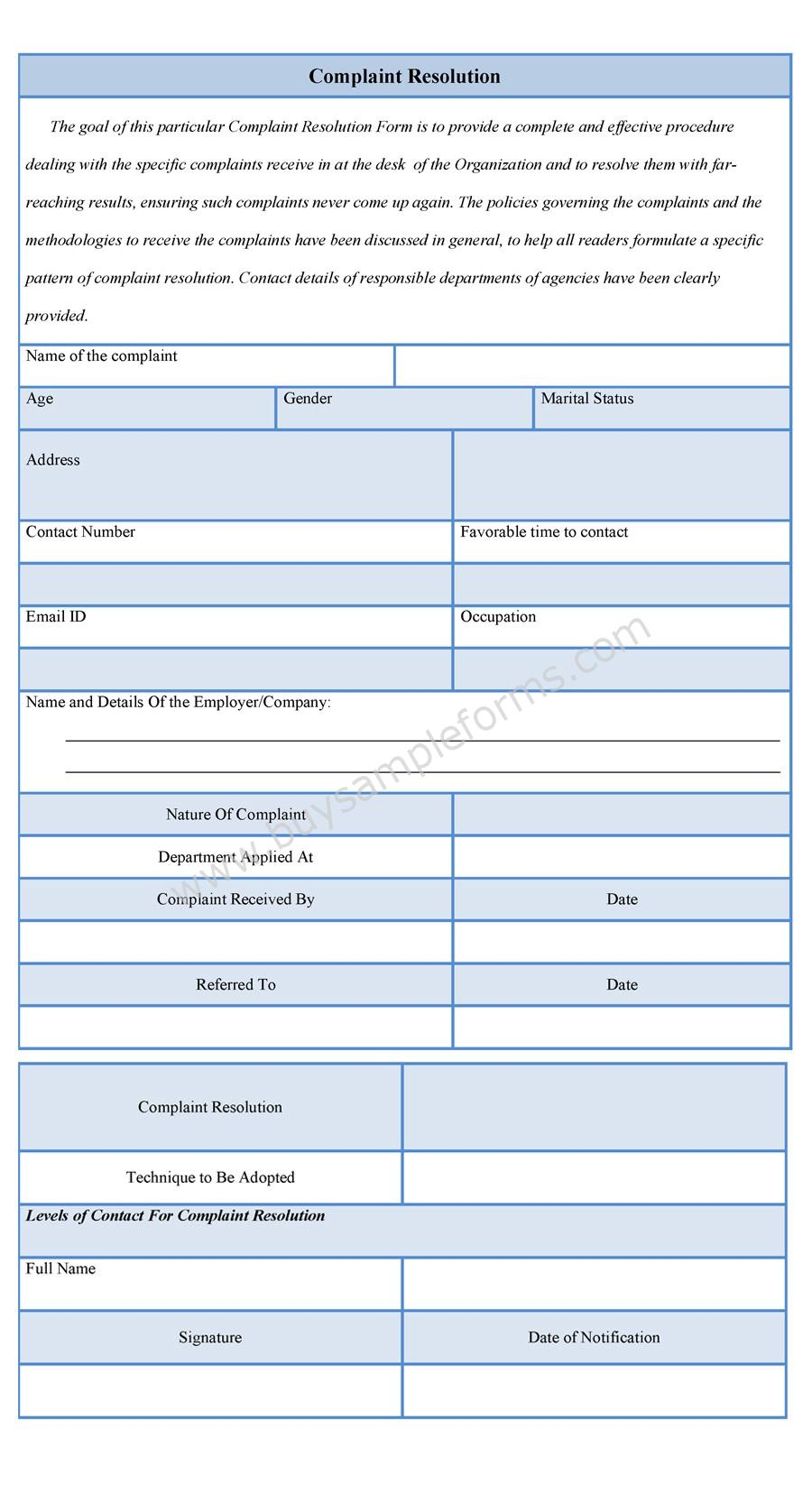 Download Easy To Edit Complaint Resolution Form At Only $3.00  Customer Complaints Form Template
