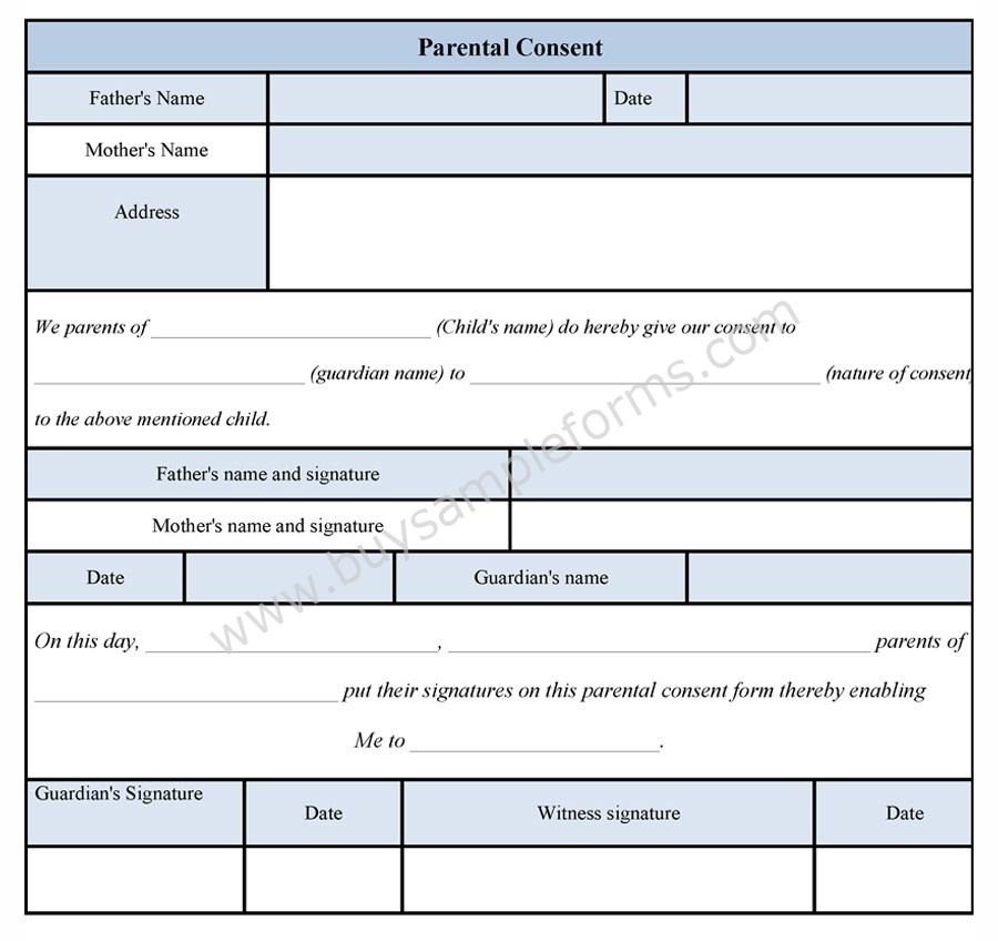 ParentalConsentForm  Buy Sample Forms Online