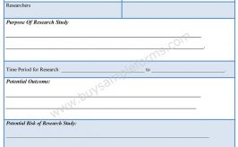 Psychological Research Consent Form