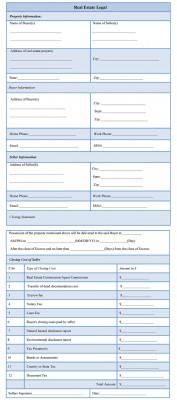Real Estate Legal Form