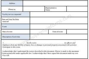 General Liability Waiver Form  General Liability Waiver Form