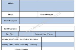 sample Appraisal Form | Sample Forms