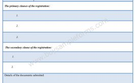 Registration Form Format