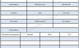 Equipment Requisition Form