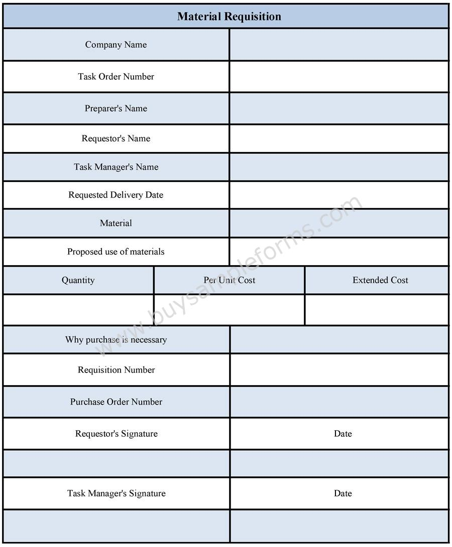 Material Requisition Form Material Requisition Form Format
