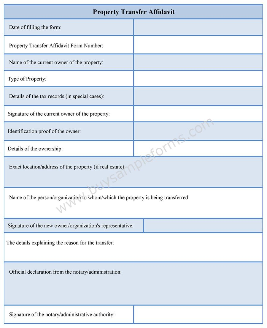 Sample Forms  General Affidavit Template