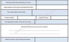 Service Tax Form
