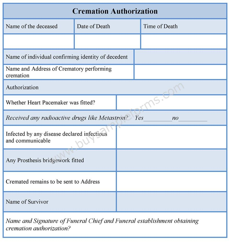 Sample Work Authorization Forms