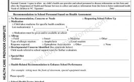 School Assessment Form