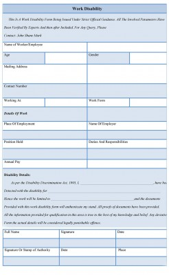 DISABILITY FORMS