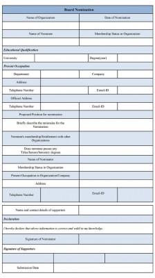 Board Nomination Form