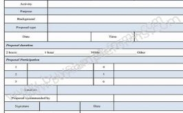 Request for Proposal Form Template