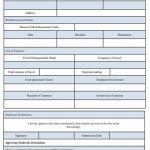 Business Reimbursement Form template Sample