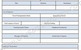 Business Reimbursement Form