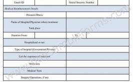 Medical Reimbursement Form Template Word