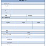 Official Receipt Form Template Word