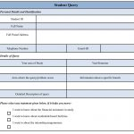 student query form template