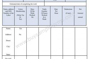 Download Weekly Certified Payroll Form in Word Format