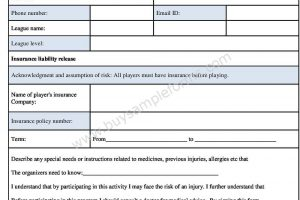 Download Insurance Release Liability Form