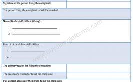 Download Divorce Complaint Form in Word Format