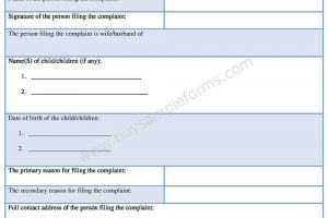 Download Divorce Complaint Form in Word Format
