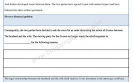 Download Divorce Dismissal Form Template in Word Format