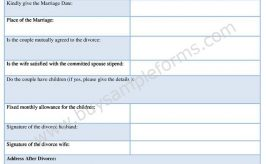 Sample Uncontested Divorce Form Download – Divorce Form Template
