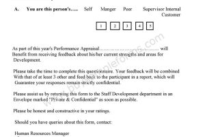 360 Degree Feedback Form