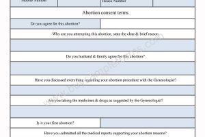 Abortion Consent Form