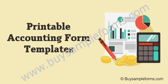 Accounting Form Examples Templates for Small Business