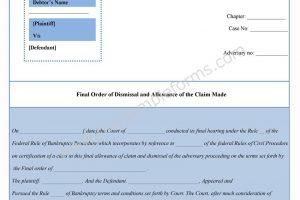 Bankruptcy Dismissal Form