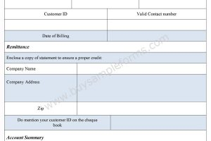 Billing Statement Form