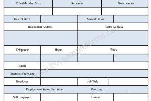 Business Order Form