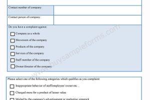 Companies Complaint Form