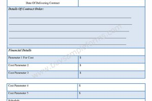 Contractor Order Form