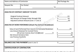 Contractor Payment Request Form