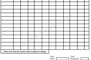 Estate Planning Inventory Form